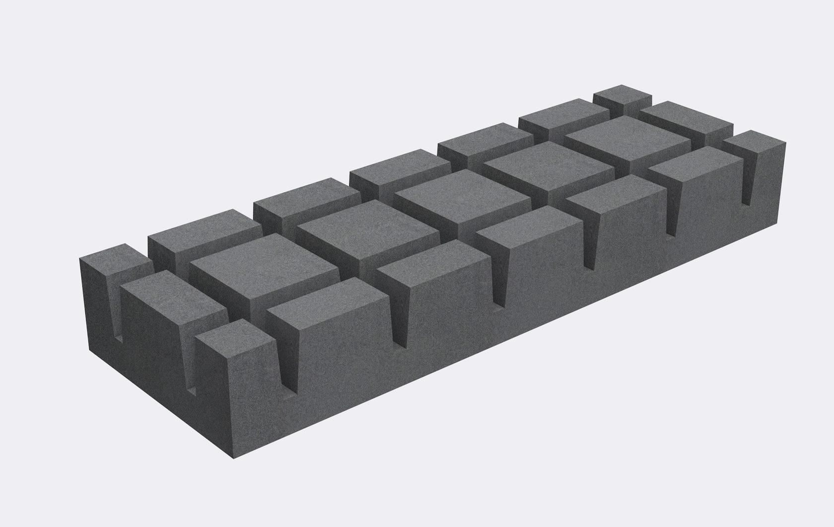 Блок фундамента (3000*1000*400)