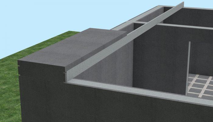 Монтаж перекрытия производиться при помощи блоков перекрытия и самонесущими стальными оцинкованными профилями.