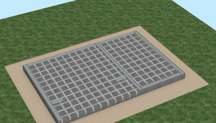 Согласно проекта на анкера к бетону монтируется направляющий стальной оцинкованный каркас.
